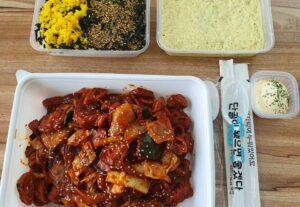 대박난야채곱창볶음 + 만능볶음소스 + 계란찜 + 주먹밥 레시피